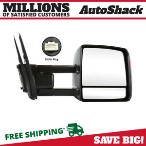 Side View Mirror Tow Power Heated Signal Black Passenger For Toyota Tundra 5 7l