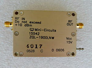 New Mini Circuits 15542 Zql 1900mln Low Noise Amplifier Coaxial Rf Sma Connect