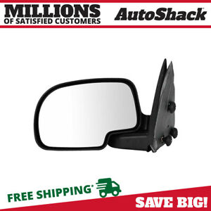 New Manual Left Lh Driver Side View Mirror For Gmc Cadillac Chevrolet Pickup Suv