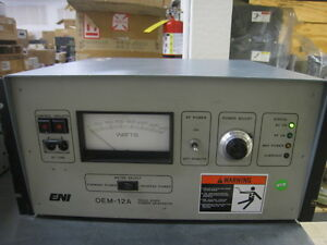 Eni Rf Generator Oem 12a Oem012a 21041 51 1250 W At 13 56 Mhz Powers On