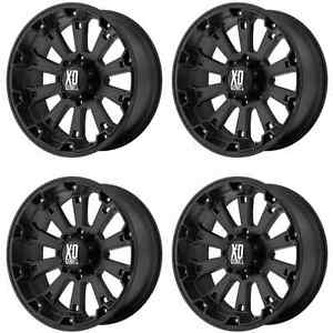 Kmc Xd800 Misfit Xd80079080700 Rims Set Of 4 17x9 0mm Offset 8x6 5 Matte black