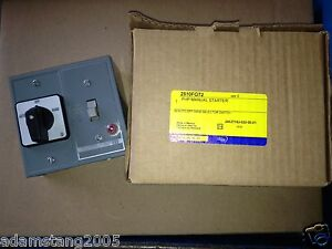 New Square D 2510fg72 Manual Motor Starter Switch W Auto off on Selector Switch