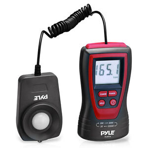 New Pyle Plmt15 Lux Light Meter W 2x Per Second Sampling 200 000 Lux Range
