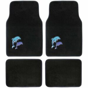 New Blue Purple Dolphins Carpet Floor Mats For Car Truck Front Rear