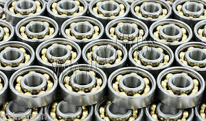 Lot Of 100 Skate Ball Bearings Low Friction Bronze Cage Open Zero Drag spin Free