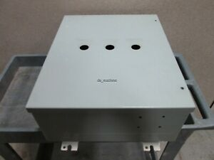 Hammond 1418jc7 Metal Enclosure 20 X 16 X 7 3 top Panel Holes see Details