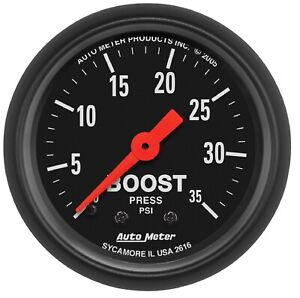 Auto Meter 2616 Z Series 2 1 16 Mechanical Boost Gauge 0 35 Psi