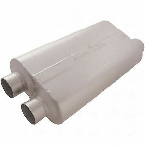 Flowmaster 530513 Universal Muffler 50 Bb Series 3 Dual In 3 5 Offset Out