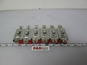 Lot Of 6 Hubbell Series 1200 Toggle Switch On off Spst 120 277vac 20a Gray