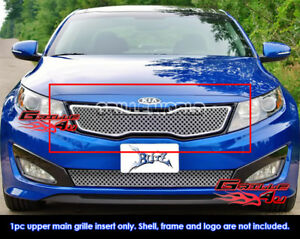 Fits 2011 2013 Kia Optima Sx ex hybrid Upper Stainless Double Wire X Mesh Grille