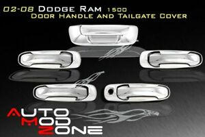 02 08 Dodge Ram 1500 5dr Chrome Door Handle Covers Tailgate Cover W O Psg Kh
