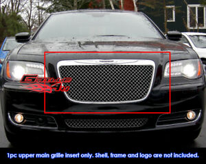 Fits Chrysler 300 300c 4mm Stainless Steel Wire X Mesh Grill Fits 2011 2014