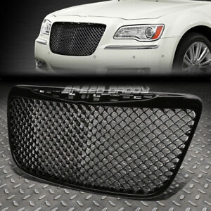 Black Luxury Front Bumper Abs Grill Grille Frame 11 14 Chrysler 300 300c Srt