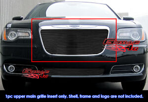 Fits Chrysler 300 300c Black Billet Grille Grill Insert Fits 2011 2014