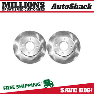 Pair Of Front Left And Right Brake Rotors Fits Ford 00 04 Focus 88 89 B600