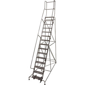 Cotterman Rolling Steel Ladder 450lb Cap 15 step Ladder 150in Platform