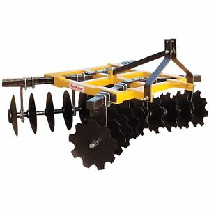 King Kutter Box Frame Disc Harrow 7 1 2 ft Combination 18 24 g cbf yk
