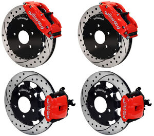 Wilwood Disc Brake Kit 06 12 Honda Civic Si 2 0l 13 12 Drilled Rotors red Cal