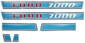 New Hood Decal Set For Ford Tractor 7000 Diesel 1971 Up