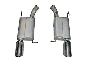 Gibson 319010 Axle back Exhaust For Ford Mustang Gt 5 0 mustang Gt 500 5 4l