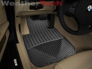 Weathertech All weather Floor Mats Bmw 1 series 2008 2013 Black