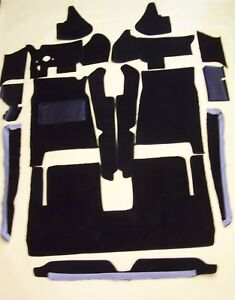 Studebaker Avanti 1963 1985 Black Loop 18 Pc Carpet Kit With 20 Oz Padding