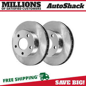 Pair Of Front Left And Right Premium Brake Rotors Fits Ford Lincoln Mercury