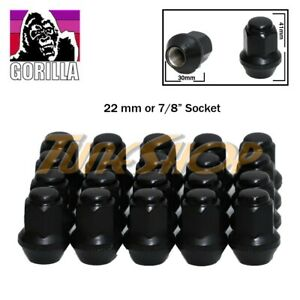 20 Gorilla Ex Large Seat Factory Stock Wheels Lug Nuts 14x1 5 Acorn Rims Black
