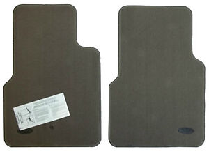 New Oem Factory Genuine Floor Mats Logo Factory Front Prarie Tan Ford Crown Vic