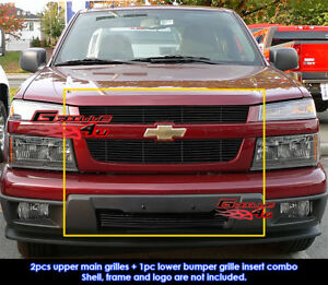 Fits Chevy Colorado Black Billet Grill Combo 04 11