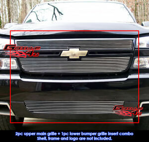 Fits Chevy Silverado 1500 Ss Billet Grill Combo 2006