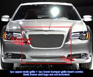 Fits Chrysler 300 300c Stainless Steel Mesh Grill Combo 2011 2014