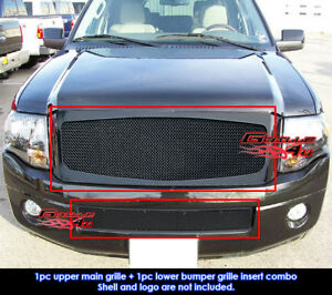 Fits Ford Expedition Black Billet Grill Combo 07 14