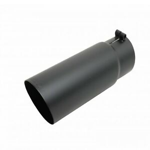 Gibson 500553 b Universal Black Round Exhaust Tip 2 25 In 4 Out