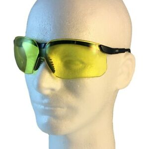 Uvex Genesis Safety Glasses Black Frame With Amber Lens Free Shipping