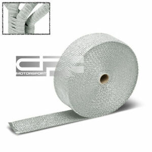 50 Feet 2 Motor cycle Header Exhaust Turbo Intake Manifold Heat Wrap Roll White