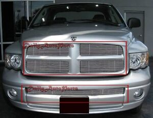Billet Grills Insert Fits 03 Dodge Ram Sport Front Grille Aluminum Grill Combo