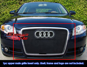 Fits Audi A4 Model Only Black Stainless Steel Mesh Grille Grill fits 2006 2007