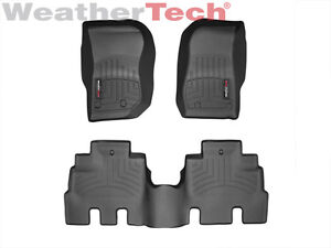 Weathertech Floormats Floorliner For Jeep Wrangler Unlimited 2014 2018 Black