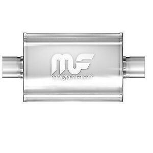 Magnaflow 12219 5 X 8 Universal Oval Ss Muffler Satin Finish 3 In Out