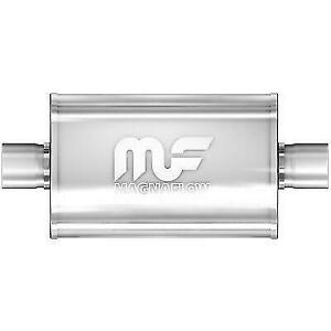 Magnaflow 12216 5 X 8 Universal Oval Ss Muffler Satin Finish 2 5 In Out