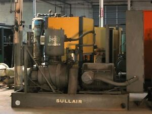 Sullair 25 150l Air Compressor Water Cooled