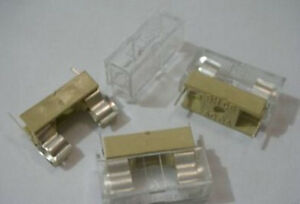 200 panel Mount Pcb Fuse Holder Case W Cover 5x20mm fc1w