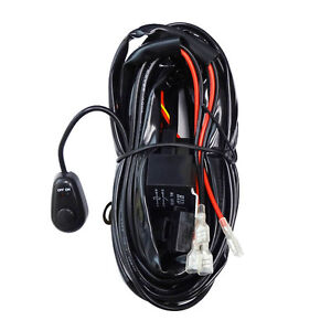 Relay Harness Wiring Cable Switch For Fog Light Off Road Hid Led Lamp Bar 2 Lamp