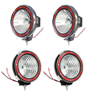 4pcs 7 Inches 4x4 Off Road 6000k 55w Xenon Hid Fog Lamp Light 2xspot 2xflood