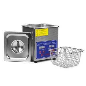 Stainless Steel 1 L Liter Industry Heated Ultrasonic Cleaner Heater W timer 110