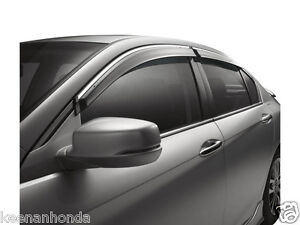 Genuine Oem Honda Accord 4dr Door Visor Kit 2013 2017 Four 4 Sedan