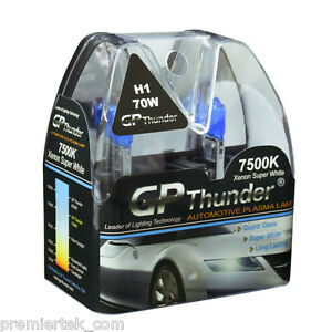 Gp Thunder Ii 7500k H1 Xenon Halogen Light Bulb 70w Super White Gp75 H1 On Sale