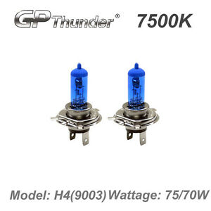 Gp Thunder Ii 7500k H4 9003 Xenon Light Bulb Pair 70w 75w Super White Gp75 H4