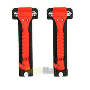 2 Pack Car Auto Emergency Life Saving Hammer With Belt Cutter Tool